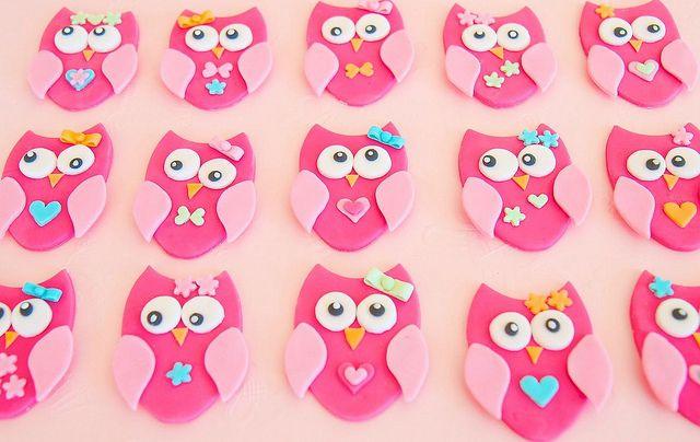 Owl cupcake toppers #cupcake #owl