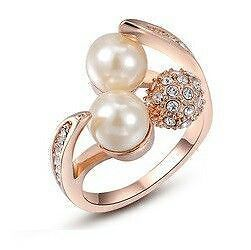 Rose-Gold-Plated-Pearl-Diamond-Wedding-Ring-for-Female