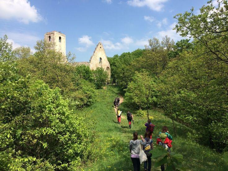 Travelling to monastery ruins in the nature (Katarinka, Slovakia)