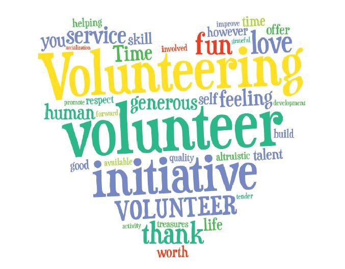volunteer wordle heart | volunteer thank you | Pinterest