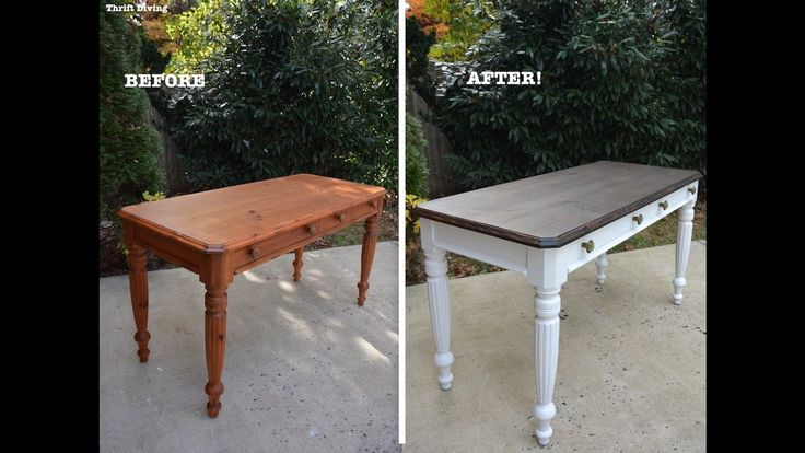 Refinish End Table Distressed