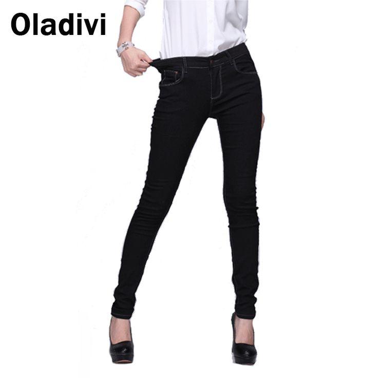 Find More Jeans Information about Oladivi 5XL Plus Size Women Jeans2016 New Fashion Spring Korean Stretch Pants High Elastic Designer…