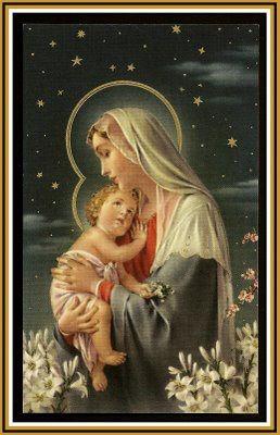 Contigo voy Virgen pura