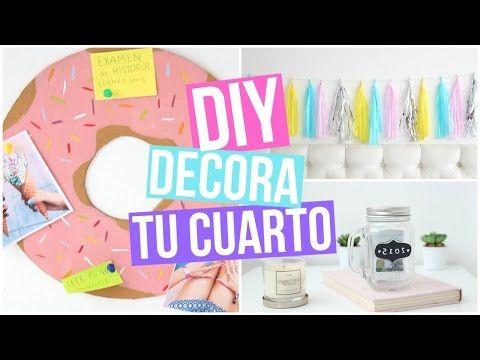 ♡ DIY: DECORACIÓN PARA TU CUARTO ♡ - YouTube