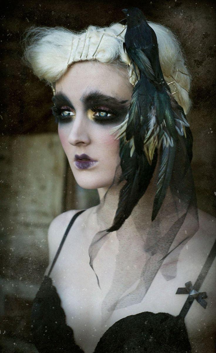 Raven Hair Piece. TwoTwentyTwoClothing. #Fantasy
