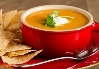Spicy Sweet Potato Chipotle Soup