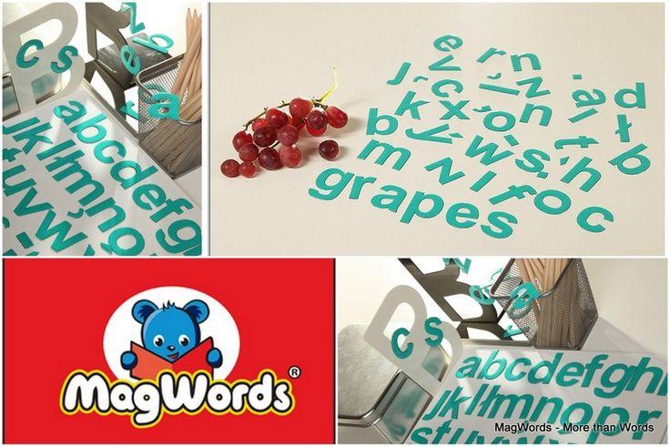 Turkusowe #Litery #Alfabet #Buchstaben #Magnets #Letters #Alfabeto #alphabet