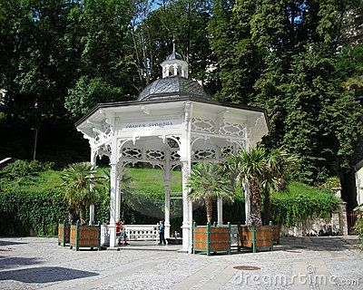 This cosy gazebo places Pramen Svoboda (the Liberty Spring) in Karlovy Vary, Czech Republic.