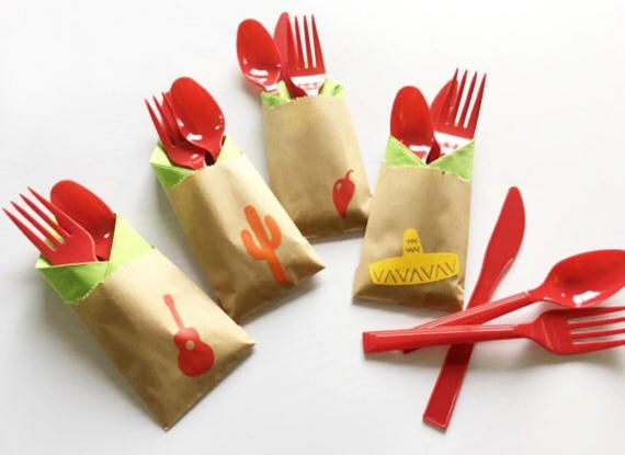 Cutlery Bags  Fiesta Party  Cinco De Mayo  fiesta baby
