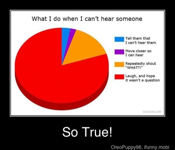 It's true though :) And a lot of the time... it was a question..