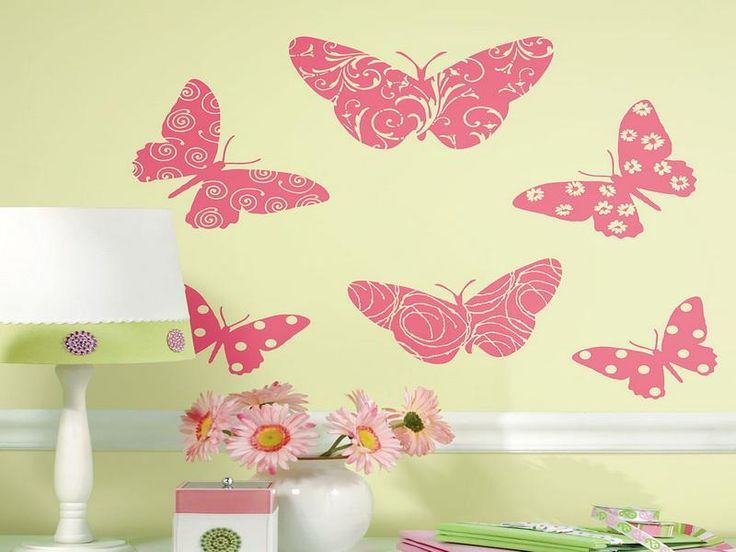 Colorful Butterfly Wall Decor For Girls Model - Wall Art Design ...
