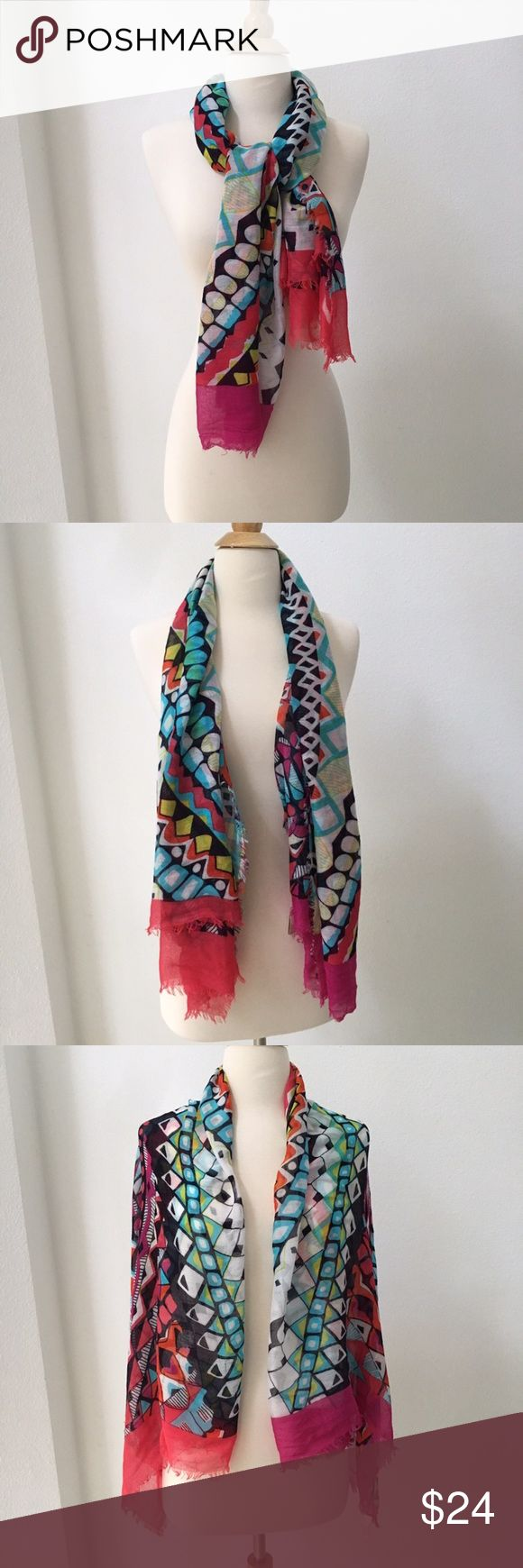 New Multi-colored Scarf from Nordstrom New, Never been used. Scarf purchased from Nordstrom department store in Hawaii. Can be worn in many creative ways. Accessories Scarves & Wraps
