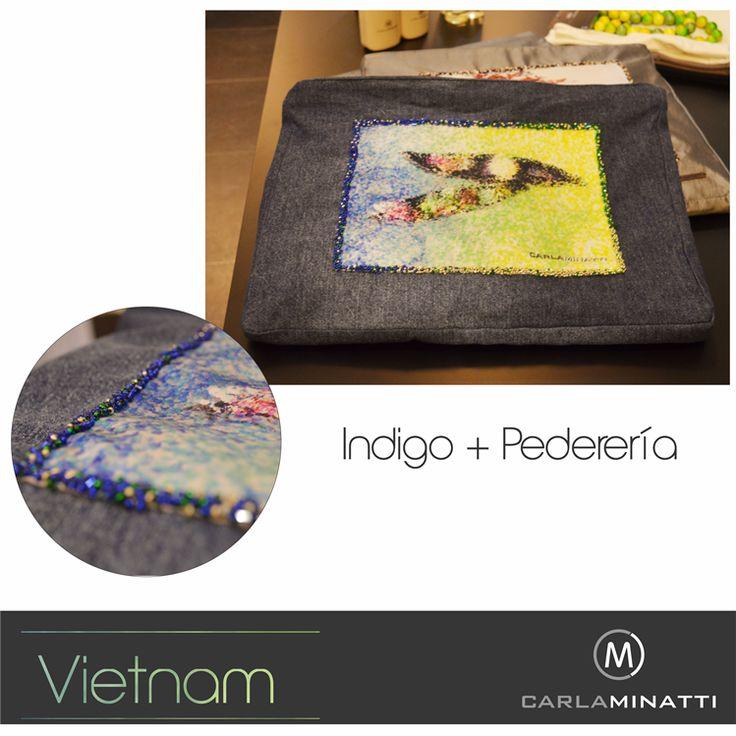 El Indigo es una base textil muy importante en nuestra última colección Vietnam incluso en el desarrollo de accesorios.