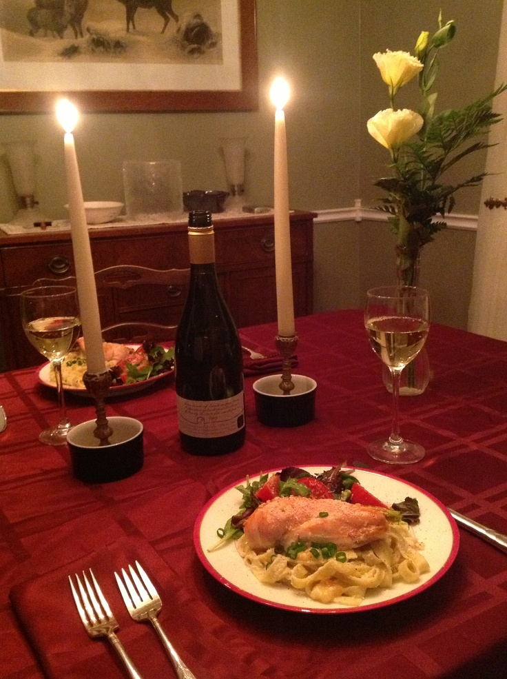 Dining in for Valentine's with my sweetie!