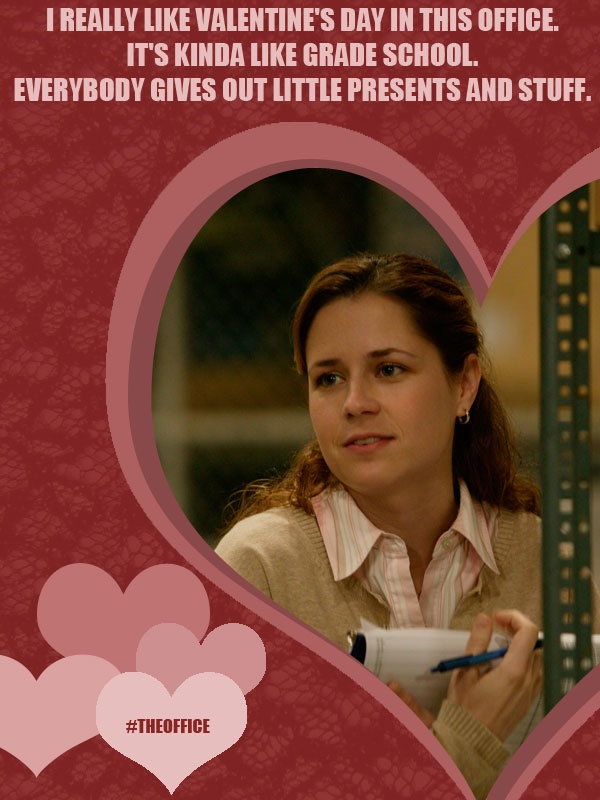 pam beesly valentines day theoffice the officedunder - The Office Valentines Day Cards