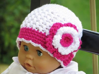 Sofia Beanie Crochet Pattern, Newborn to Woman sizes