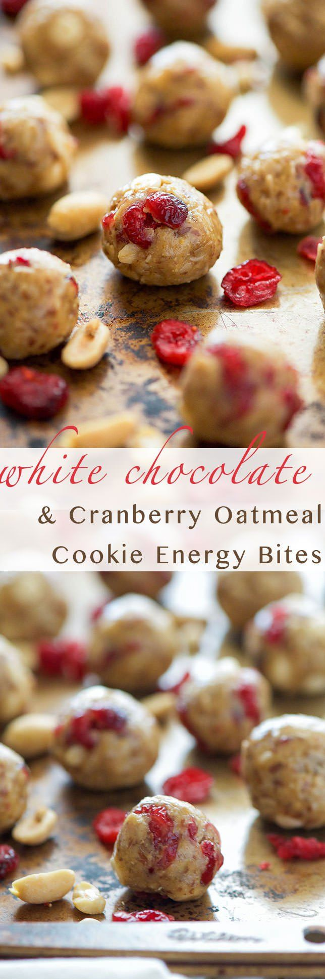 Oatmeal Cookie Energy Bites | Peanut Butter, Gluten Free, Healthy Snack, Chocolate, Honey, No Bake, Healthy, Protein, Easy,