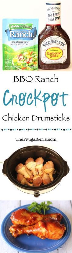 Crockpot BBQ Ranch Chicken Drumsticks Recipe! ~ from TheFrugalGirls.com ~ this Easy Slow Cooker dinner recipe makes for the BEST barbecue chicken legs! #slowcooker #recipes #thefrugalgirls
