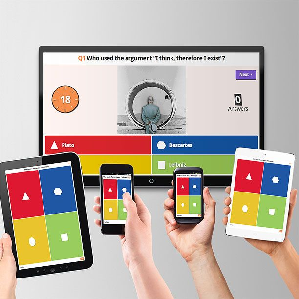 Kahoot! | Game-based blended learning & classroom response system that delivers online quizzes and surveys to students. The premise of Kahoot is similar to that of Socrative and Infuse Learning