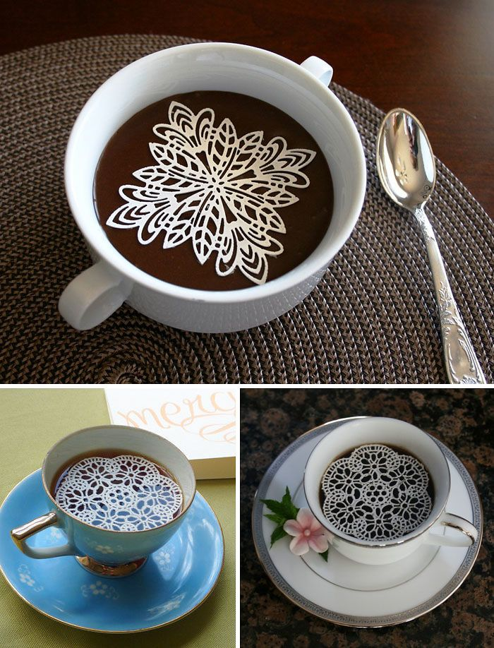 Edible Sugar Doilies For The Prettiest Cup Of Coffee | Bored Panda