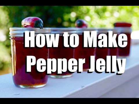 How to Make Pepper Jelly - Low Sugar - Without Any Special Canning Equipment - YouTube