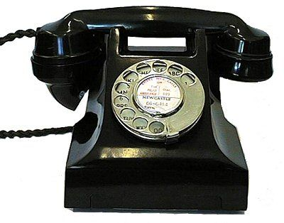 1950s 300-series Black Bakelite Telephone Jydsk Desk Telephone