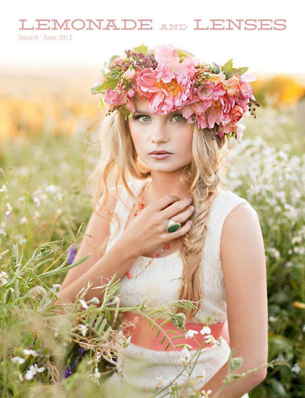 Lush flower crown/headpiece.