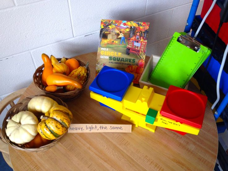 Measure weight fall provocation with pumpkins and gourds
