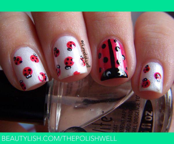 Ladybug Nails! | Michelle C.'s (thepolishwell) Photo | Beautylish