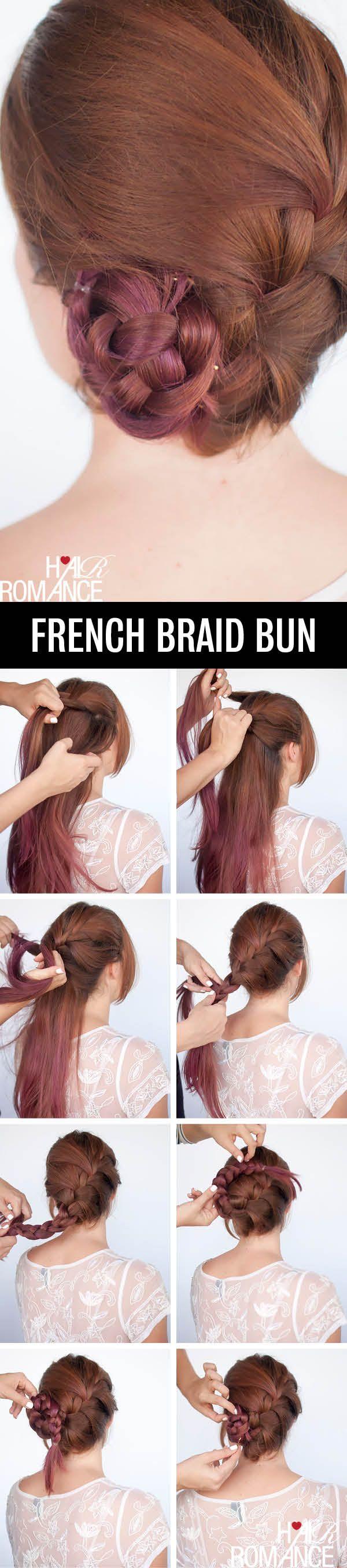 French-braid bun.