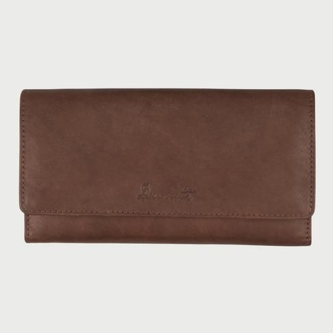 Duesouth Women's Long Leather Essential Wallet