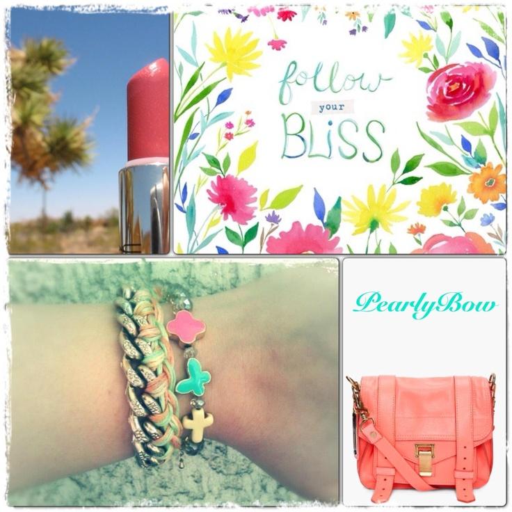 Bracelets, coral pink, spring, Mac