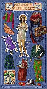 virgin mary paper doll religious kitsch