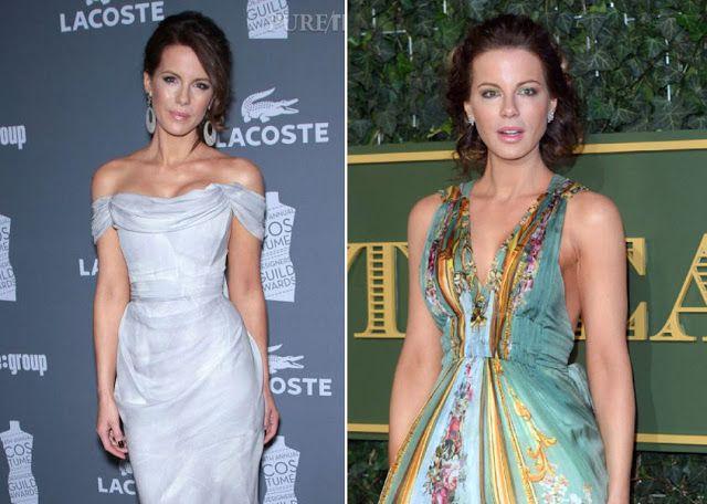 Кейт Бекинсейл в одежде с разным контрастом