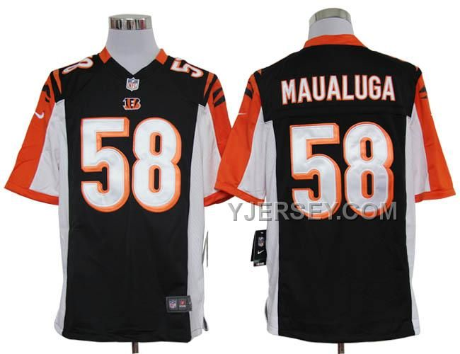 Nike Bengals Rey Maualuga Black Team Color Mens NFL Game Jersey And Falcons  Vic Beasley jersey