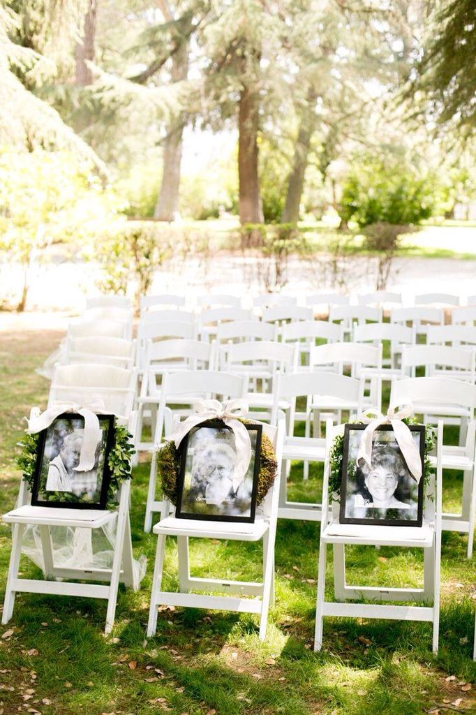 Deceased Loved Ones photos at your wedding