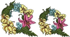 Exotic Flowers Font - Letter Q