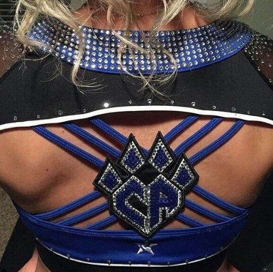 Back of Cheer Athletics Fiercekatz new uniform tops.