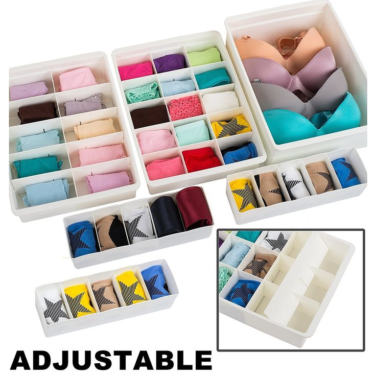 Image Of Amazon Adjustable Drawer Organizers Set With Customizable Dividers in Stackable