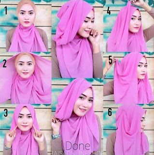 Tutorial Hijab Pesta Simple Segi Empat Modern Terbaru 2016