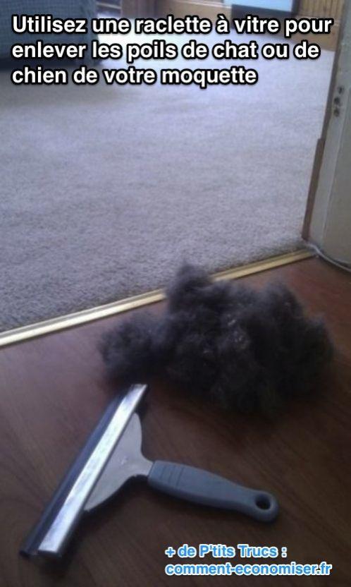 Il existe une astuce magique bien plus rapide pour enlever les poils de vos tapis, moquettes, canapés et fauteuils.  Découvrez l'astuce ici : http://www.comment-economiser.fr/enlever-poils-animaux-tapis-canape.html?utm_content=buffer8a9a1&utm_medium=social&utm_source=pinterest.com&utm_campaign=buffer