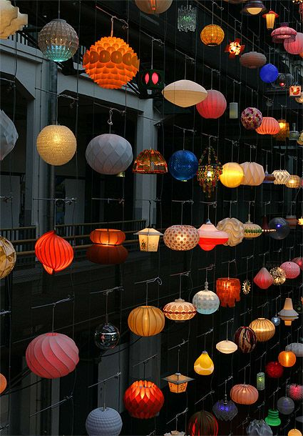Art installation in Germany, called SPACE INVADERS by the artists Sebastian Hungerer and Rainer Kehres