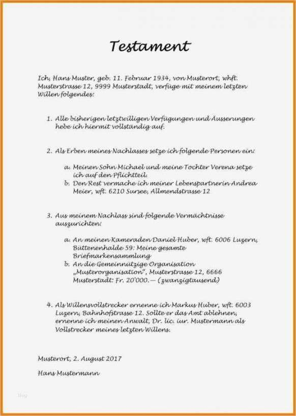 Beeindruckend Testament Vorlage Kinderlos Vorlagen Briefkopf Vorlage Lebenslauf