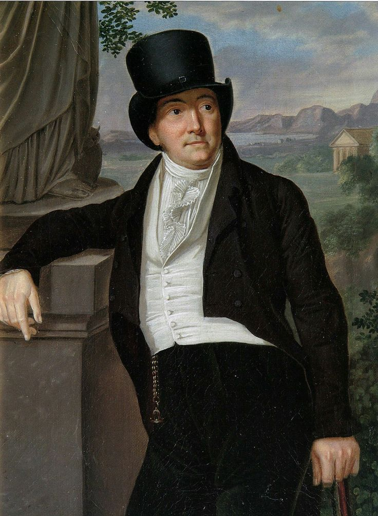 Unknown artist, Portrait of Jacob Kabrun, before 1814, Pushkin Museum in Moskow, Russia. J. Kabrun  was a wealthy merchant from Danzig, collector of Art ( mostly D. Chodowiecki's works) a cofounder of a Danzig Theatre opened in 1801 year and a diplomat. He was a very elegant and fashionable man of thiese time in Danzig.