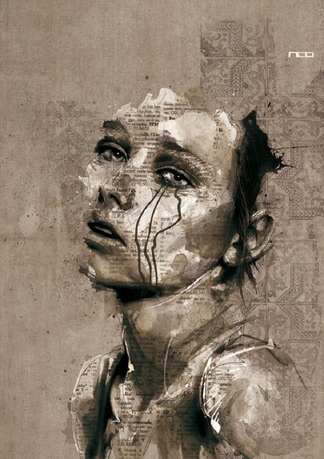 Fantastické portréty Floriana Nicolle - Shiz.sk