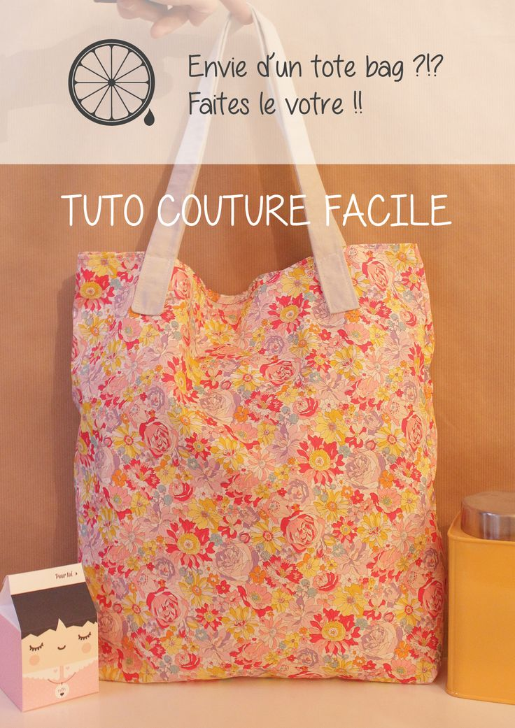 Tuto couture facile tote bag