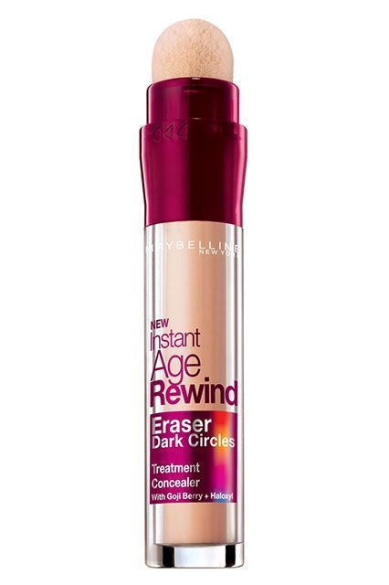 There's a reason this lightweight concealer is beloved by consumers, editors, and bloggers alike: It instantly brightens tired eyes and never looks the slightest bit cakey. Maybelline Instant Age Rewind Eraser Dark Circles Treatment Concealer, $8.99, available at Ulta Beauty. #refinery29 http://www.refinery29.com/maybelline-best-sellers-instant-age-rewind-concealer#slide-1