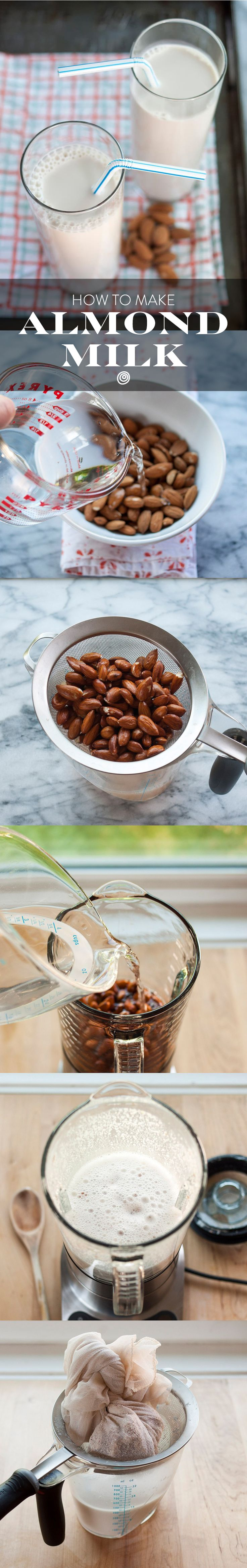 How to make homemade almond milk. Follow our step-by-step recipe and make your own DIY milk alternative! You'll never believe how EASY it is to make.