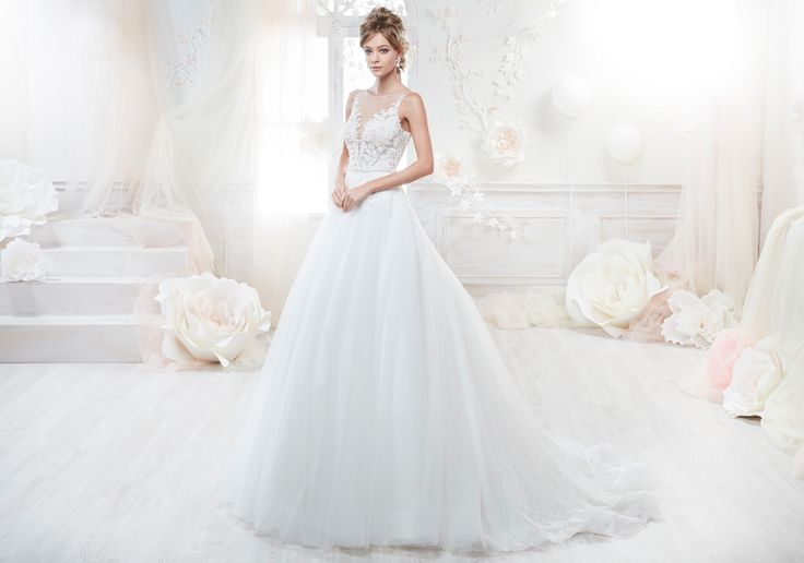 Moda sposa 2018 - Collezione COLET.  COAB18305. Abito da sposa Nicole.