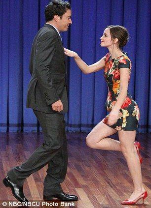 Emma Watson on Late Night with Jimmy Fallon